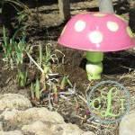 I Toad You I Love Gardening (Toadstool from an old bowl)