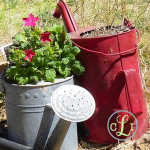 Flower Pots from Junk…and Junk in the garden!