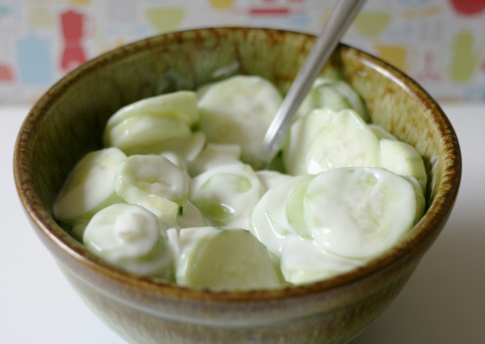 Sweet and Sour Cucumber Salad - Live Creatively Inspired
