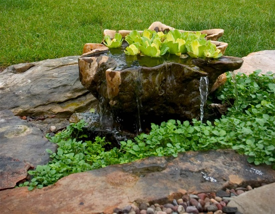 Add a garden fountain to your yard live creatively inspired for Recirculating water feature