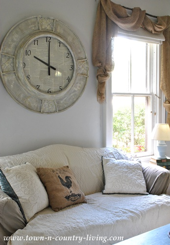 My large wall clock gets a makeover live creatively inspired for Living room wall clocks