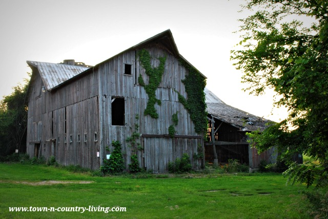 Rustic Barn on a Country Road