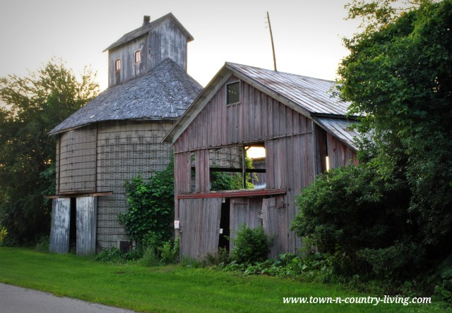 Rustic Barns on a Country Road in Illinois