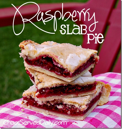 Raspberry Slab Pie - Live Creatively Inspired