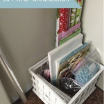 Easy & Practical Gift Wrap Organization