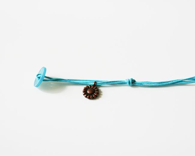 Easy Corded Charm Bracelet5