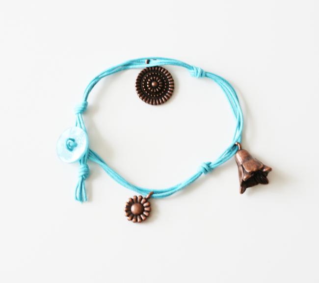 Easy Corded Charm Bracelet6