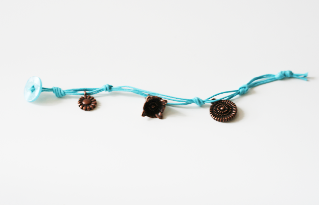 Easy Corded Charm Bracelet7