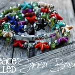 """Peace""-filled Summer Bracelet"