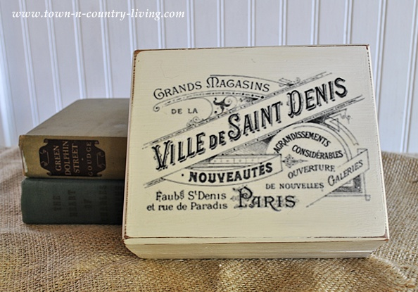 painted cigar box with graphic design via