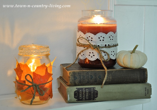 Creative Candles for Fall Decorating via www.town-n-country-living.com
