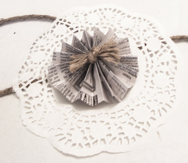 DIY Newspaper and Doily Garland