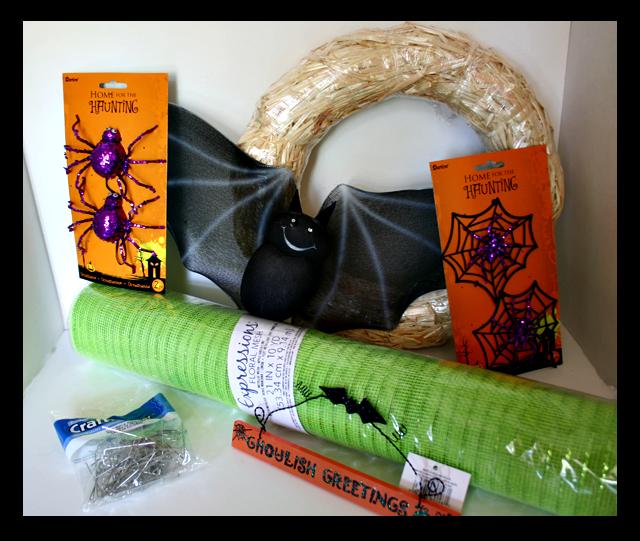 Halloween-Wreath-Materials