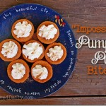 Impossible Pumpkin Pie Bites