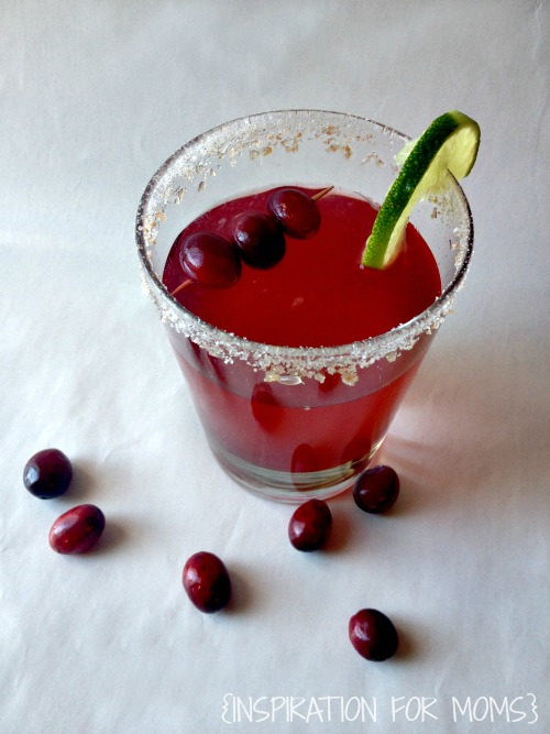 Cranberry Pomegranate Cosmo Recipe - Finished