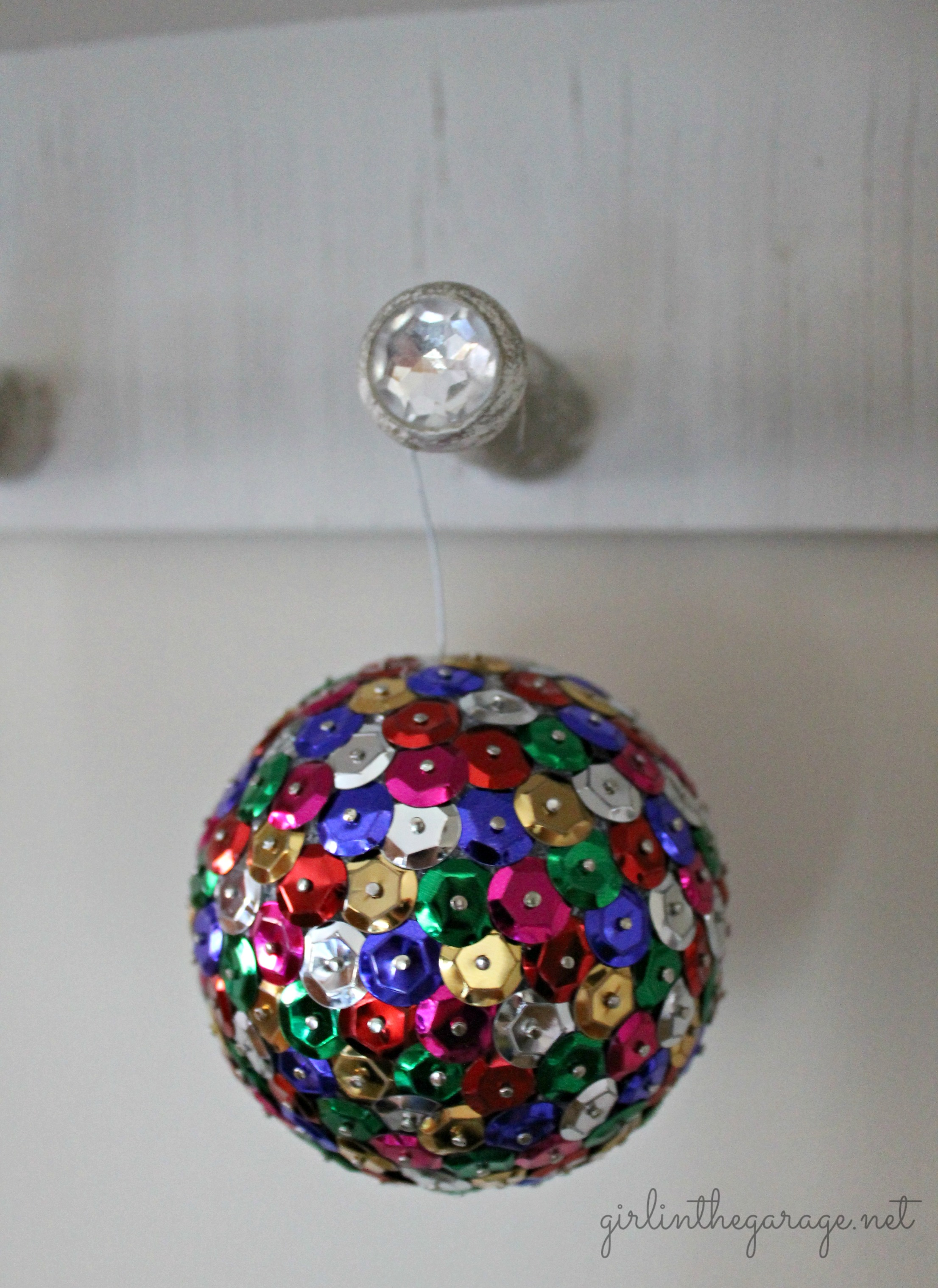 Diy Sequin Tack Ornaments Girl In The Garage