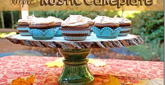 Simple Rustic Cakeplate