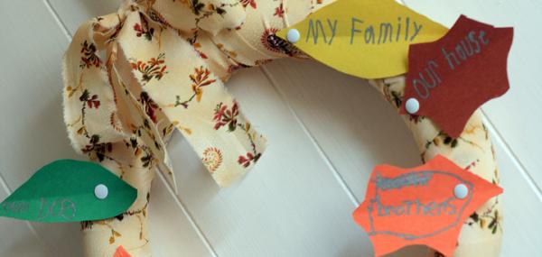 Thanksgiving Kids Craft ~ A Thankful Wreath
