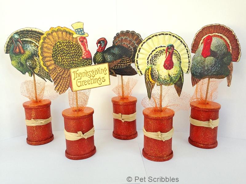 Thanksgiving Spool Craft Decoration