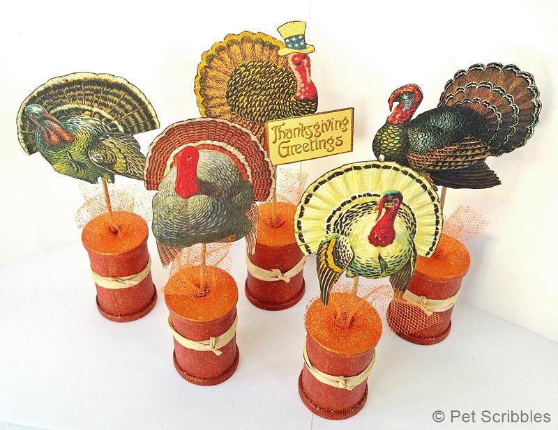 Thanksgiving Vintage Turkeys
