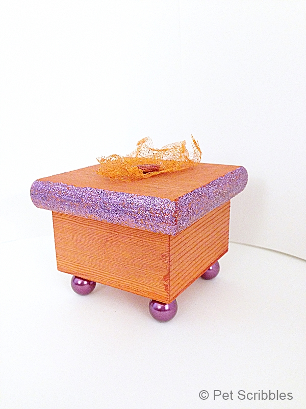 decorative dyed wood box