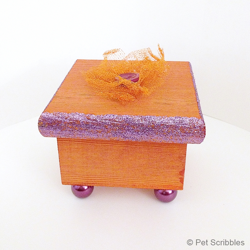 weathered dyed wood box