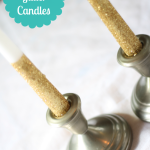 5-Minute Glitter Candles
