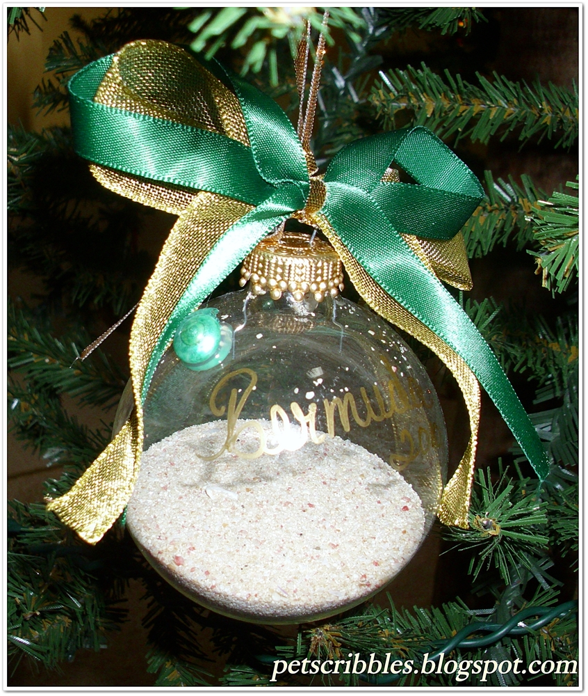 Looking for christmas ornaments - Bermuda Sand Glass Ornament