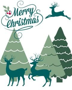 Reindeer Merry Christmas Printable-small size