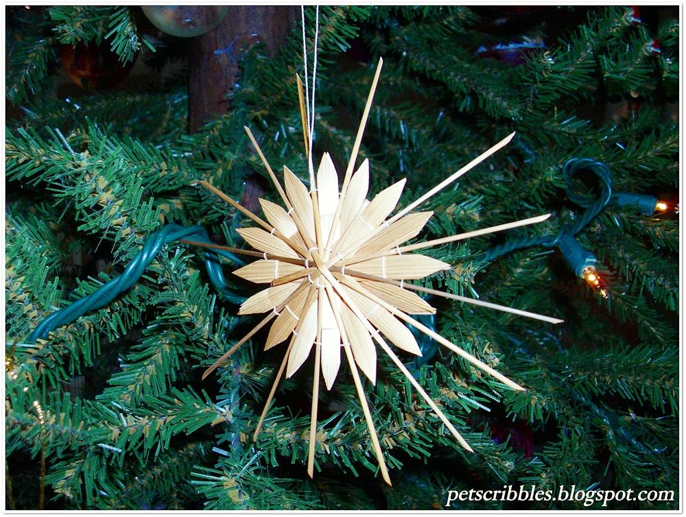 Strohsterne Straw Star Vintage Ornament