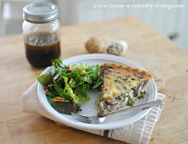 Quiche and Salad with Mimi's Famous Salad Dressing