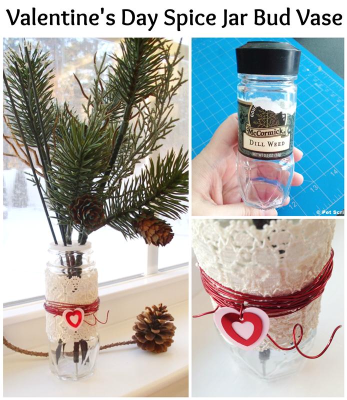 Spice Jar Bud Vase For Valentine S Day Live Creatively Inspired