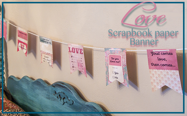 Scrapbook Paper Banner