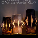 Scrapbook Paper Luminaries