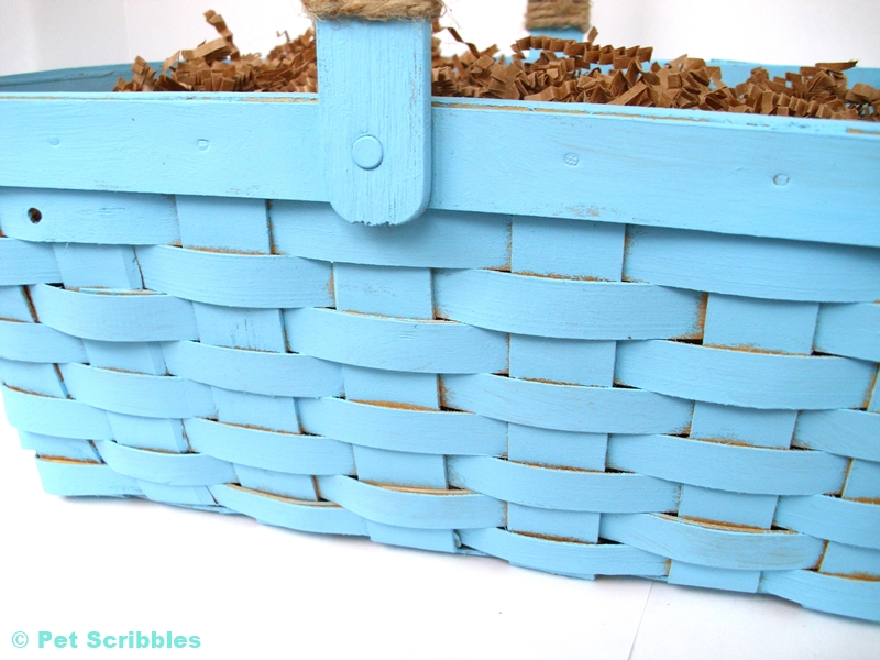Chalky Finish Painted Basket - easy how to