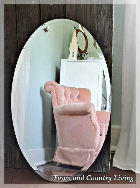 Old Barn Door and Vintage Mirror