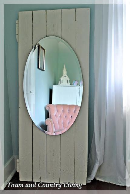 Old Barn Door becomes Full Length Mirror