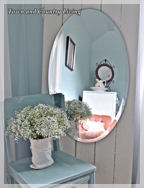 Full length mirror made from old barn door