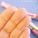 How to prevent glitter from falling off!