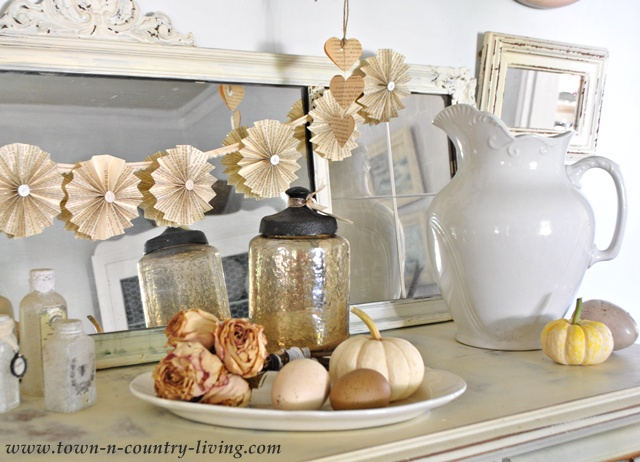 Paper Fan Garland via Town and Country Living