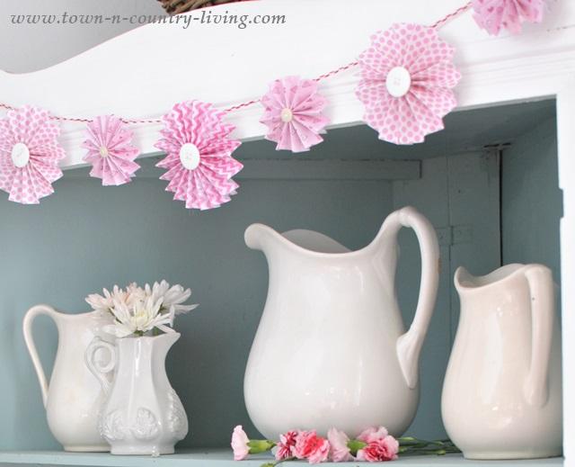 Pink Paper Fan Garland
