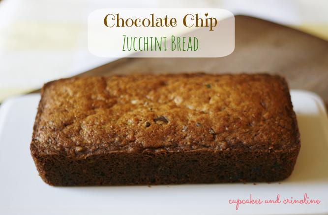 Chocolate Chip Zucchini Bread Full Loaf
