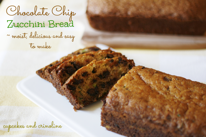 Chocolate Chip Zucchini Bread Moist and Delicious