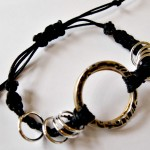 Double Stacked Ring Woven Bracelet