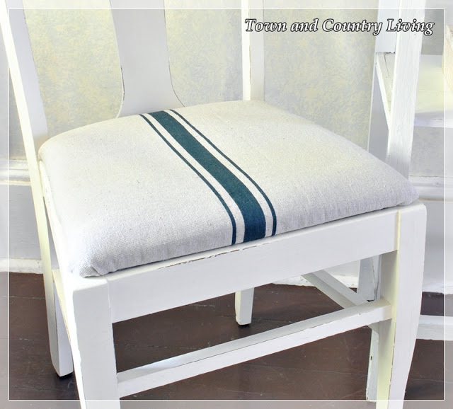 Dropcloth seat cushion