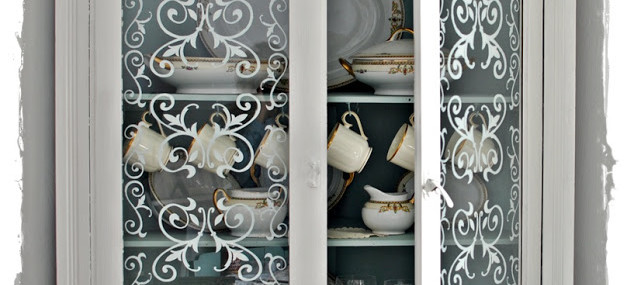 How to Stencil Glass Doors