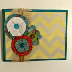DIY Wall Art and Fabric Flower Tutorial
