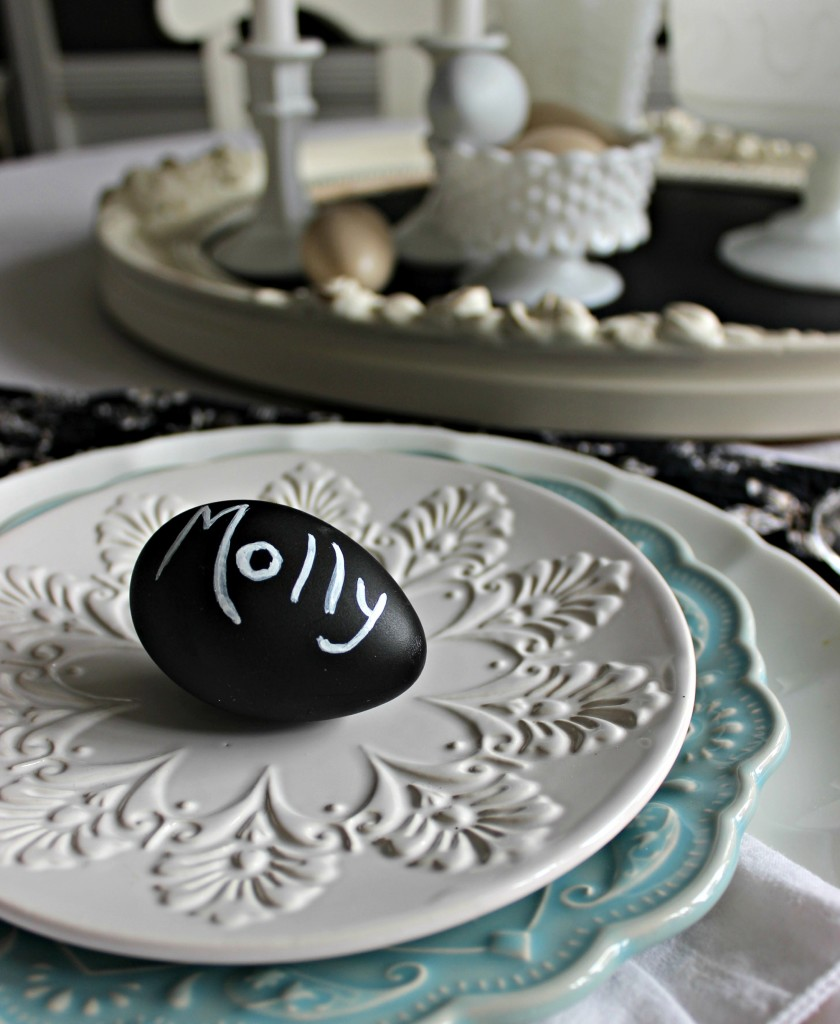 easter chalkboard place cards