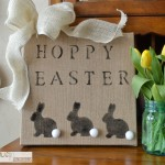 Quick and Easy Burlap Easter Sign