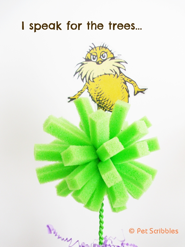 the lorax truffula trees DIY